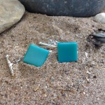 turquoise cuff link